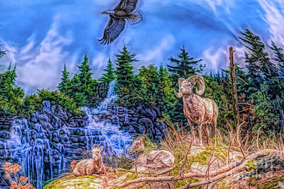 Poster featuring the digital art Northern Wilderness by Ray Shiu