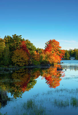 Northwood Lake Autumn Poster