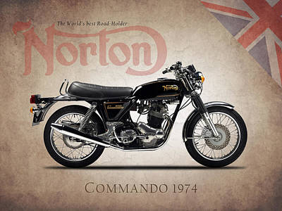 Norton Commando 1974 Poster by Mark Rogan