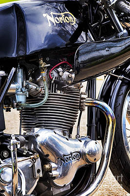 Norton Commando 750cc Cafe Racer Hdr Poster by Tim Gainey