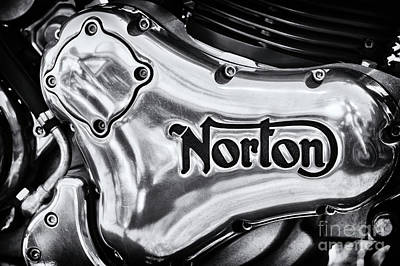 Poster featuring the photograph Norton Commando 961 Engine Casing by Tim Gainey