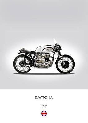 Norton Daytona Poster by Mark Rogan
