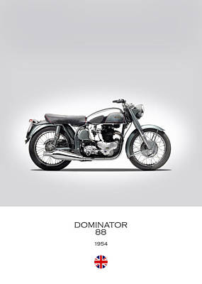 Norton Dominator 1954 Poster by Mark Rogan