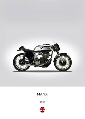Norton Manx 500cc 1959 Poster by Mark Rogan