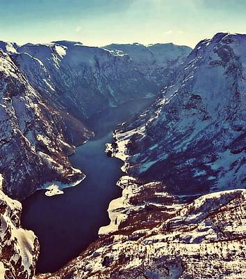 Norway Mountains Poster by Digital Art Cafe