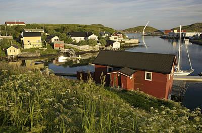Norway, Sandvig, Village On Coast Poster by Keenpress