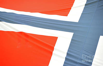 Norwegian Flag Abstract Poster