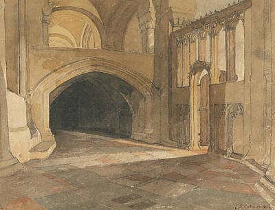 Norwich Cathedral - Entrance To Jesus Chapel Poster by John Sell Cotman