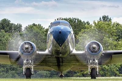 Nose To Nose With A Dc-3 Poster