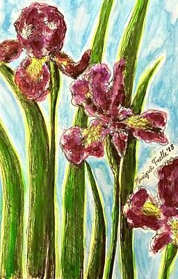 Nostalgic Irises Poster