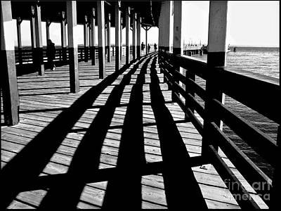 Nostalgic Walk On The Pier Poster by Carol F Austin