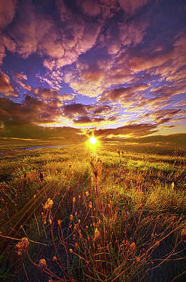 Not Yet Vanquished Poster by Phil Koch