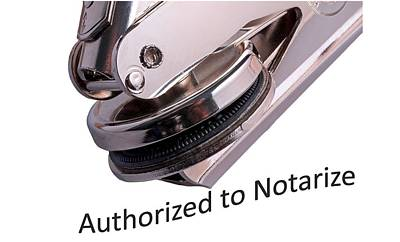 Notary Public Slogan Poster by Phil Cardamone