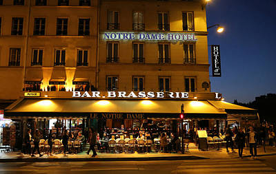 Poster featuring the photograph Notre Dame Cafe by Andrew Fare