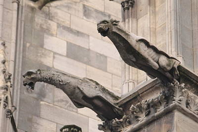 Poster featuring the photograph Notre Dame Cathedral Gargoyles by Christopher Kirby