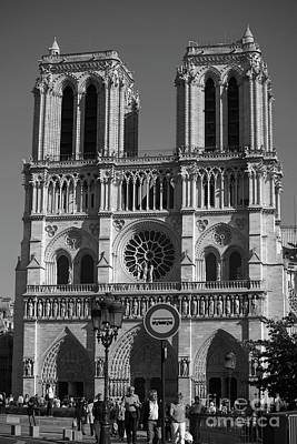 Notre Dame Cathedral In Black And White Poster by Patricia Hofmeester