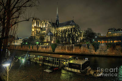 Notre Dame Cathedral Paris 1.0 Poster by Yhun Suarez