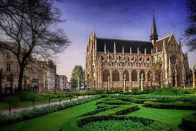 Notre Dame Du Sablon In Brussels  Poster by Carol Japp