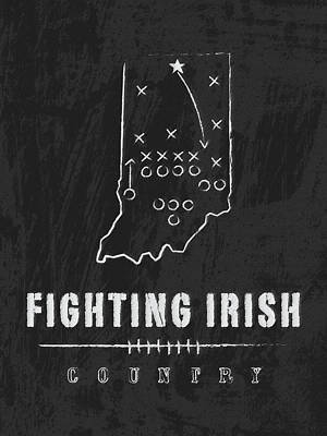 Notre Dame Fighting Irish Country Poster by Damon Gray
