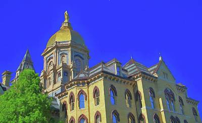 Notre Dame Golden Dome Poster