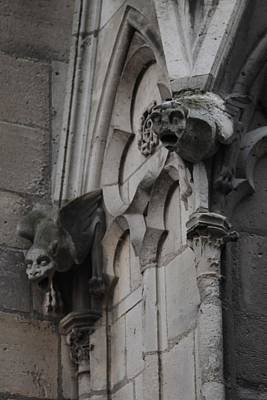 Poster featuring the photograph Notre Dame Grotesques by Christopher Kirby