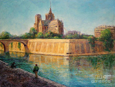 Notre Dame In Sunshine Poster by Jill Musser