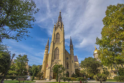 Notre Dame University 3 Poster by David Haskett