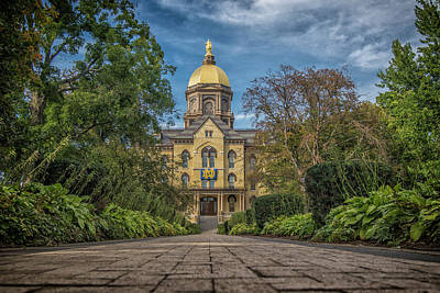 Poster featuring the photograph Notre Dame University Q1 by David Haskett