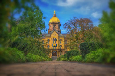 Poster featuring the photograph Notre Dame University Q2 by David Haskett
