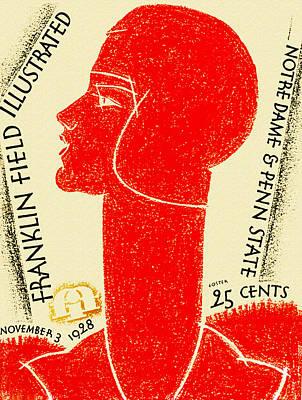 Notre Dame Versus Penn State 1928 Program Poster by Big 88 Artworks