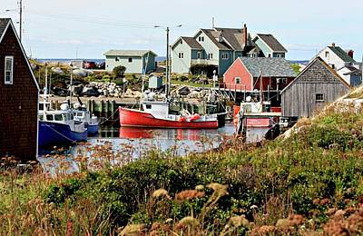 Poster featuring the photograph Nova Scotia Fishing Community by Jerry Battle