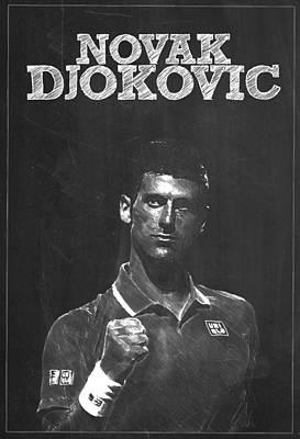 Novak Djokovic Poster by Semih Yurdabak