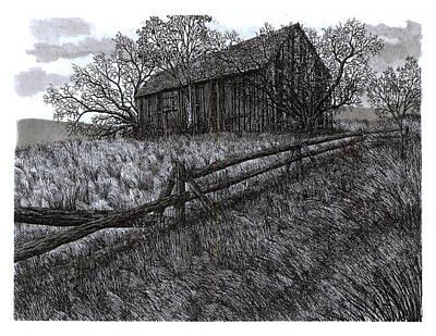 November At The Farm Poster by Jonathan Baldock