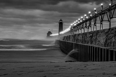 November Gales In Grand Haven Poster