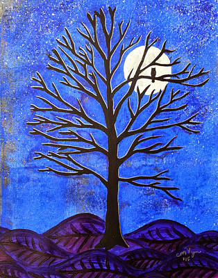 November Moon Poster by Michelle Vyn