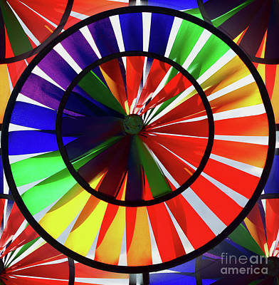 Poster featuring the photograph noWind wheel by Luc Van de Steeg