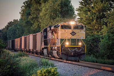Ns Heritage Reading Lines Southbound At Sullivan In Poster by Jim Pearson