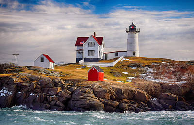 Nubble In Winter Poster by Tricia Marchlik