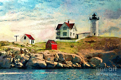 Nubble Light - Painted Poster