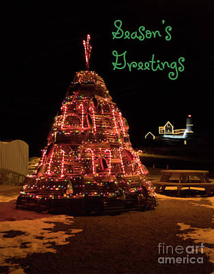 Nubble Light - Season's Greetings Poster