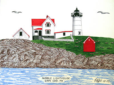 Nubble Lighthouse At Cape Neddick Poster