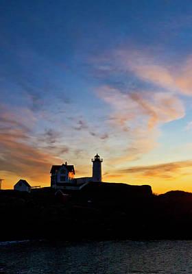 Nubble Lighthouse Sunrise 3 Poster