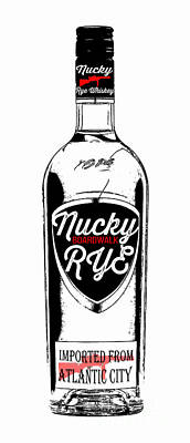 Nucky Thompson Boardwalk Rye Whiskey Poster