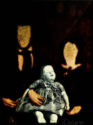 Poster featuring the digital art Nuclear Family by Delight Worthyn