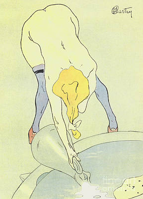 Nude Bathing Poster by French School