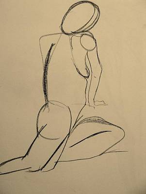 Nude Drawing 2 Poster by Kathleen Fitzpatrick