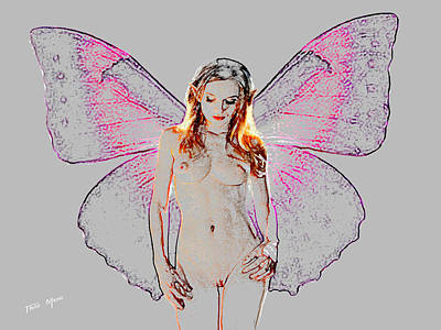 Nude Fairy Backlite Poster