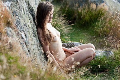 Nude Girl In The Nature Poster
