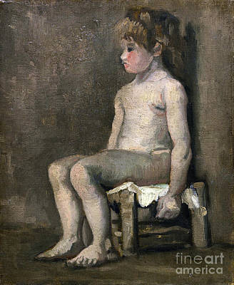Nude Girl - Seated Poster by Van Gogh