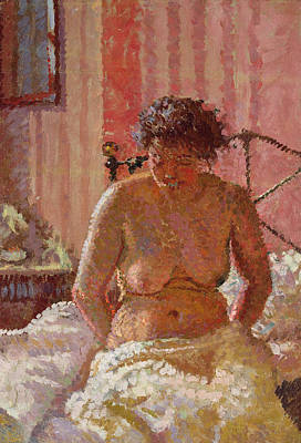 Nude In An Interior Poster by Harold Gilman